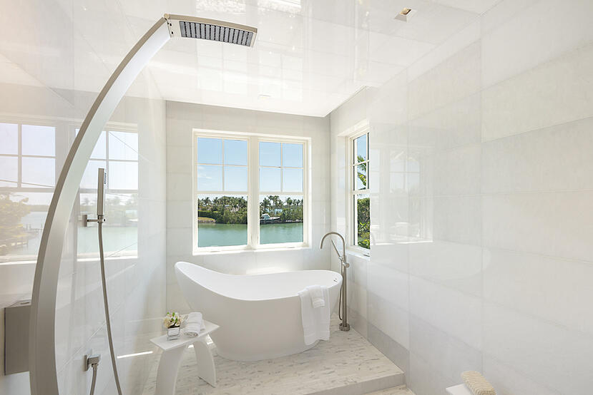 Bathroom with Hand Held Shower Head