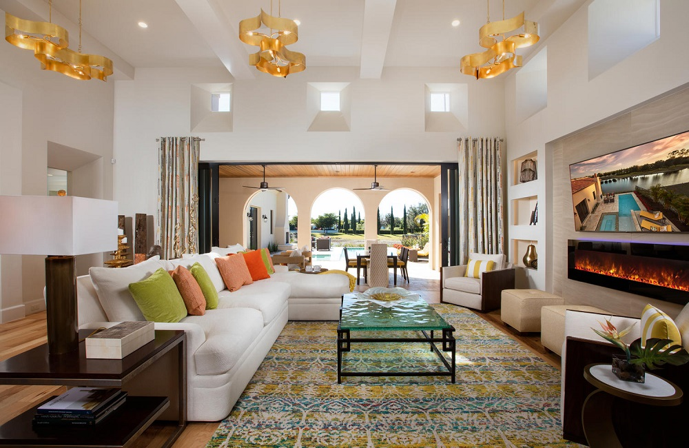 Explore the soft contemporary interior design found in the Capriano in Mediterra