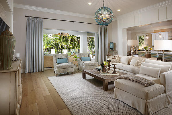 This custom home by London Bay Homes in Old Naples features one of our quick and easy home design tips.