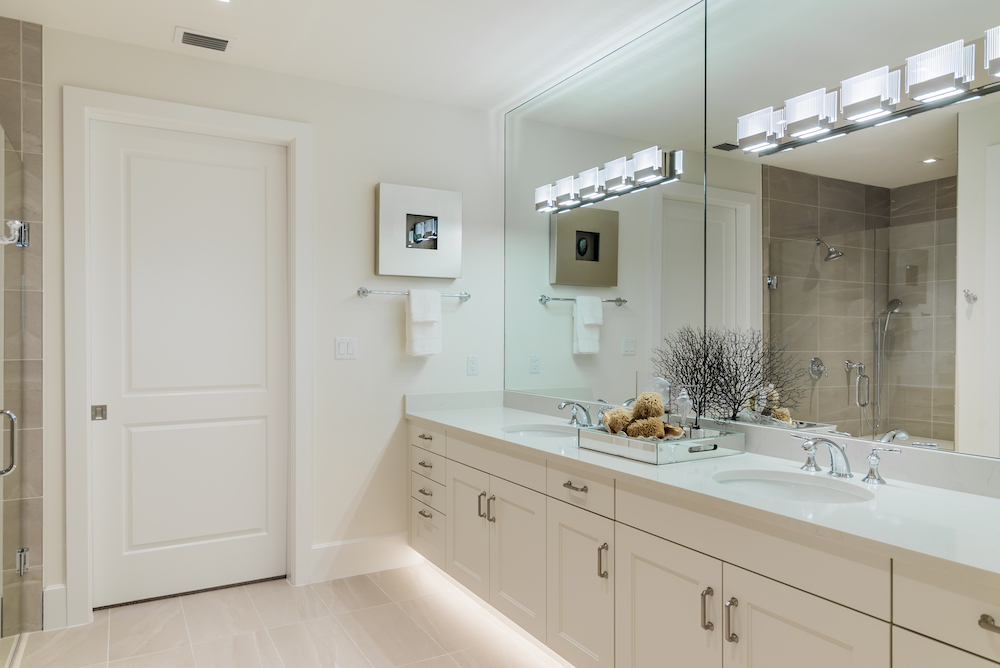 Under Cabinet Lighting in Master Bathroom