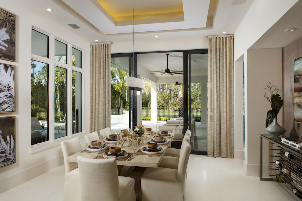 dining room interior design styles in Naples, Florida